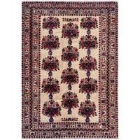 Handmade Herat Oriental Afghan Tribal Balouchi Wool Rug  - 6'11 x 9'8 (Afghanistan)