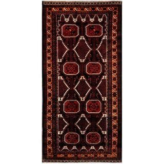 Pasargad Heriz Hand Knotted Rust Navy Wool Rug 4 X 8