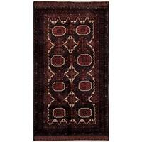 Herat Oriental Afghan Hand-knotted Tribal Balouchi Wool Rug (4'9 x 8'11) - 4'9 x 8'11