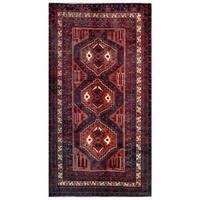 Herat Oriental Afghan Hand-knotted Tribal Balouchi Wool Rug (4'9 x 8'9) - 4'9 x 8'9