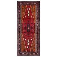 Handmade Herat Oriental Afghan Tribal Balouchi Wool Rug (Afghanistan) - 4' x 9'4