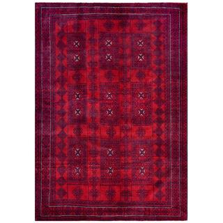 Handmade One-of-a-Kind Balouchi Wool Rug (Afghanistan) - 6'3 x 8'10
