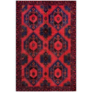 Handmade One-of-a-Kind Balouchi Wool Rug (Afghanistan) - 6'5 x 9'10