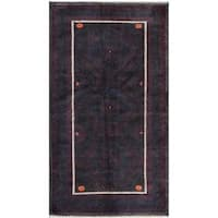Herat Oriental Afghan Hand-knotted Tribal Balouchi Wool Rug (6'5 x 9'1) - 6'5 x 9'1