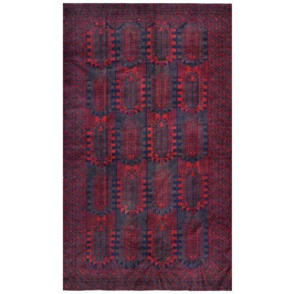 Handmade Herat Oriental Afghan Tribal Balouchi Wool Rug (Afghanistan) - 6'1 x 10'3