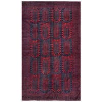 Herat Oriental Afghan Hand-knotted Tribal Balouchi Wool Rug (6'1 x 10'3)