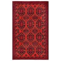 Herat Oriental Afghan Hand-knotted Tribal Balouchi Wool Rug - 8'2 x 13'2