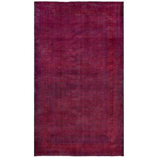 Herat Oriental Afghan Hand-knotted Tribal Balouchi Wool Rug (5'1 x 8'9)