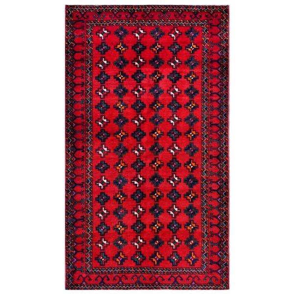 Herat Oriental Afghan Hand-knotted Tribal Balouchi Wool Rug (5'6 x 9'6) - 5'6 x 9'6