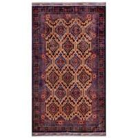 "Herat Oriental Afghan Hand-knotted Tribal Balouchi Wool Rug - 5'3"" x 9'6"""