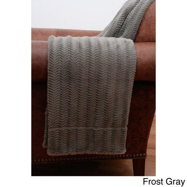 Fannie Fishbone Faux Fur Throw Blanket