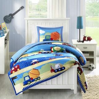 Mi Zone Kids Truck Zone Pattern Mini Comforter Set (Option: Full)