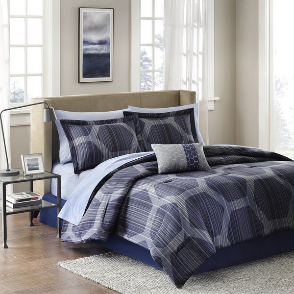 Madison Park Essentials Pierce 9-piece Bed in a Bag with Sheet Set