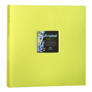 Kleer Vu Cloth Fabric Lime Green Post Bound Scrapbook (12x12)