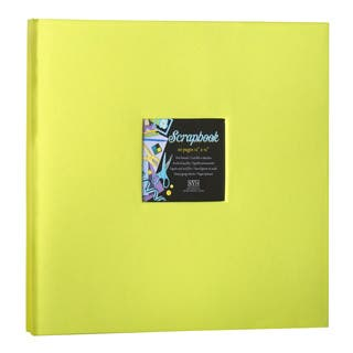 Kleer Vu Cloth Fabric Lime Green Post Bound Scrapbook (12x12)|https://ak1.ostkcdn.com/images/products/8760515/P16003215.jpg?impolicy=medium
