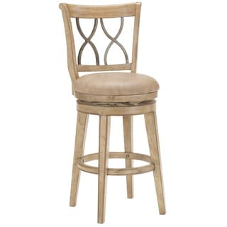 Reydon Wood and Metal Swivel Stool
