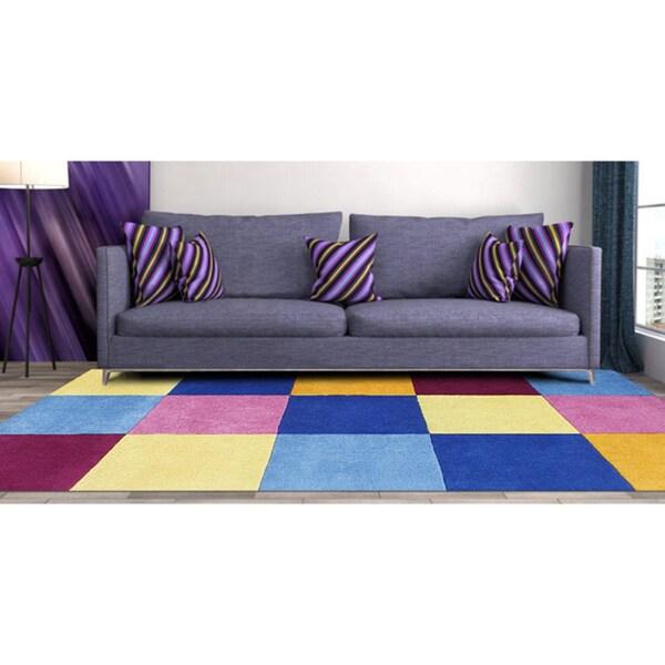 Alliyah Handmade Multi New Zealand Blend Wool Rug (8' x 10')
