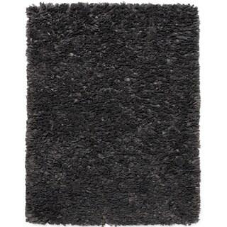 Jani Lea Grey Paper Shag Rug (5' x 8')