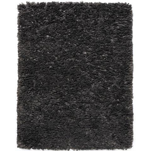 Jani Lea Grey Paper Shag Rug - 3' x 5'