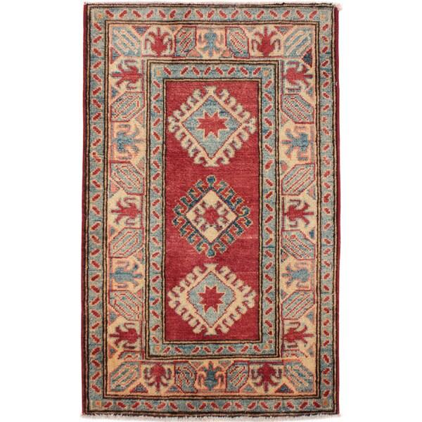 "Shop Hand-knotted Wool Pakistan Kazak Rug (2'2"" X 3'6"