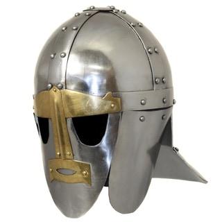 Link to Handmade 6th Century Sutton Hoo Steel Replica Helmet (India) Similar Items in Decorative Accessories