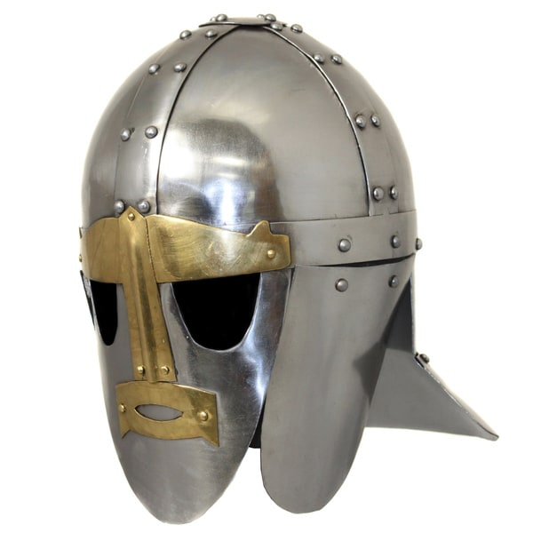 Hand-crafted 6th Century Sutton Hoo Anglo-Saxon Steel Replica Helmet