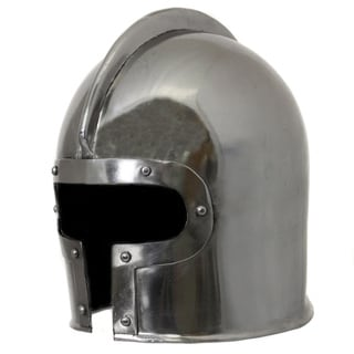 Link to Hand-crafted 15th Century Italian Barbute Steel Replica Helmet Similar Items in Accent Pieces