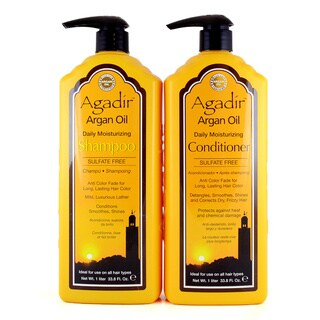 Agadir Argan Oil Daily Moisturizing 33-ounce Shampoo and Conditioner Set