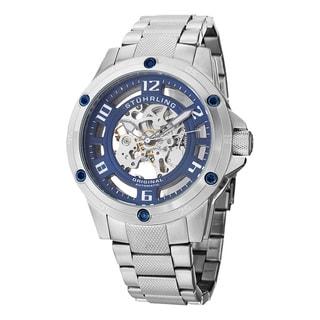Stuhrling Original Men's Zolara Engine Elite Automatic Stainless Steel Bracelet Watch