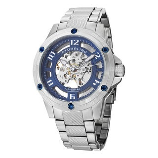 Stuhrling Original Men's Zolara Engine Elite Automatic Stainless Steel Bracelet Watch