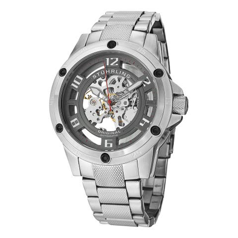 Stuhrling Original Men's Zolara Engine Elite Automatic Bracelet Watch