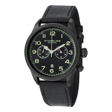 Stuhrling Original Men's Velo Quartz Chronograph Strap Watch