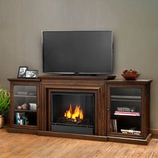 Real Flame Frederick Chestnut Oak Gel Entertainment Fireplace