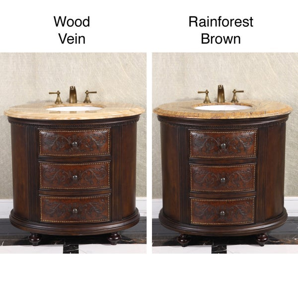 36 Inch Single Sink Vintage Style Natural Stone Top Bathroom Vanity Free Shipping Today