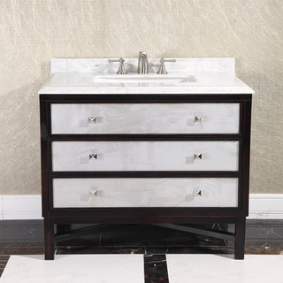 Modern Carrera White Marble Top 36-inch Single Sink Bathroom Vanity