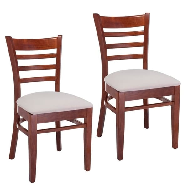 Ladder Back Two-tone Wood Dining Chairs. Opens flyout.