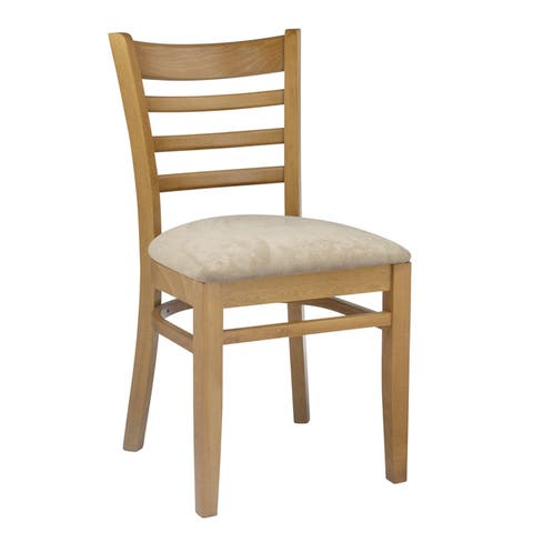 Ladder Back Two-tone Wood Dining Chairs