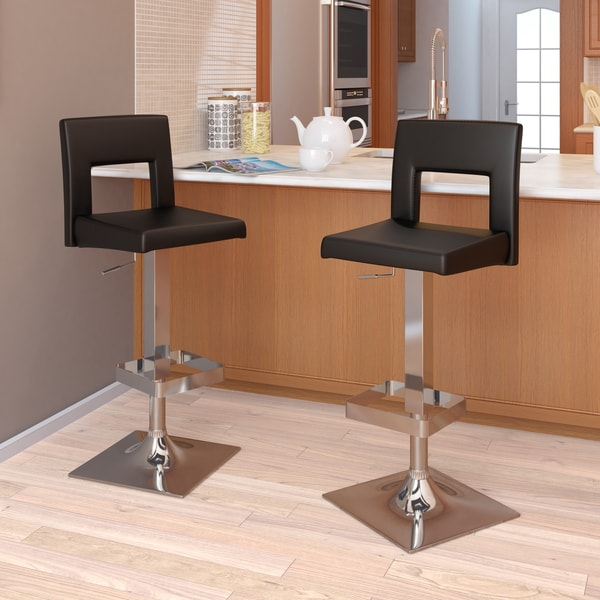 Square Padded Adjustable Black Leatherette Bar Stool Set  : 93a589af 9a01 4f83 b850 71478915fd3c600 from www.overstock.com size 600 x 600 jpeg 57kB