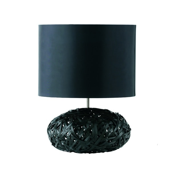 charlie modern black table lamp free shipping today. Black Bedroom Furniture Sets. Home Design Ideas