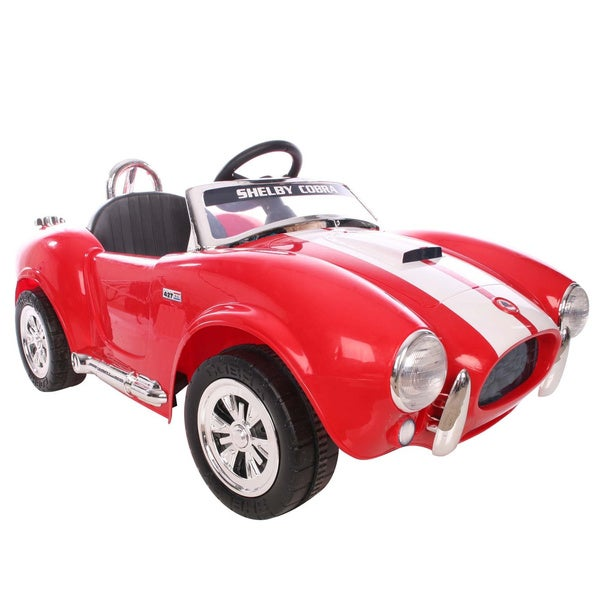 Kid motorz 12v one seater shelby cobra free shipping for Motorized cars for 5 year olds