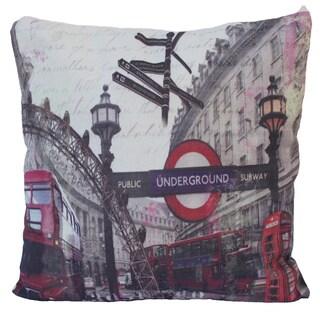 Subway Themed Throw Pillow