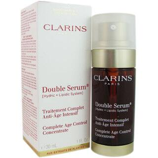 Clarins 1-ounce Double Serum Complete Age Control Concentrate System|https://ak1.ostkcdn.com/images/products/8760876/P16003504.jpg?impolicy=medium