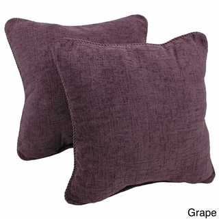 Blazing Needles 18-inch Solid Chenille Rope-corded Throw Pillows (Set of 2)