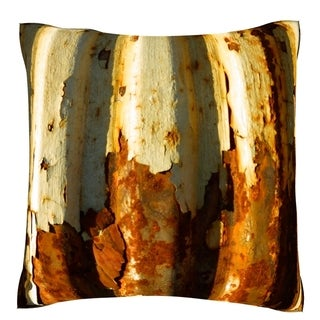 'Corroded Metal Wall' 18-inch Velour Throw Pillow