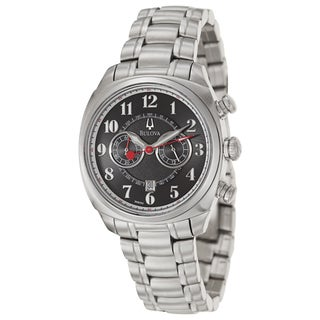 Bulova Men's 96B162 'Adventurer' Stainless Steel Chronograph, Military Time Watch