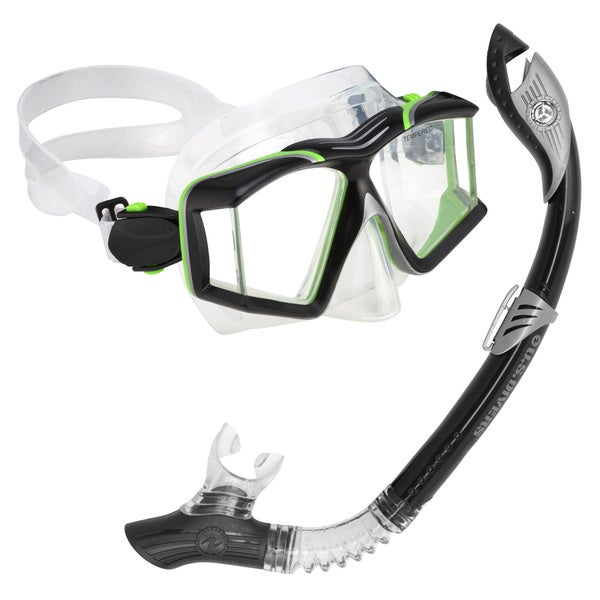 Aqua Lung Sideview Paradise LX Black Snorkel Set