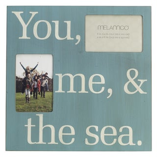 Melannco 'You, Me and the Sea' Sentimental Wall Photo Plaque
