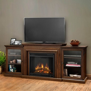 Real Flame Frederick Chestnut Oak 72 in. L x 15.5 in. D x 30.1 in. H Electric Entertainment Fireplace