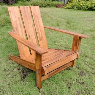 International Caravan Royal Fiji Acacia Square-back Adirondack Patio Chair