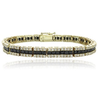 Icz Stonez 18k Gold Over Sterling Silver Cubic Zirconia Bracelet